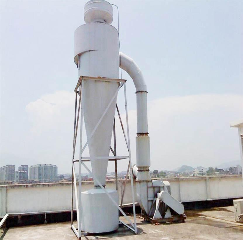 临沂某食品厂淀粉生产车间旋风除尘回收工程